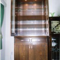2005年 南大沢 H邸 照明付きガラス棚