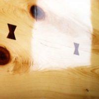 2005年 八王子 蕎麦屋 桧テーブル板臼型掘り込み