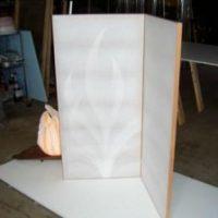 2009年 一点物作品 紙すき和紙屏風