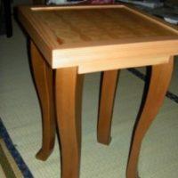 2008年 一点物作品 木口貼り物置台
